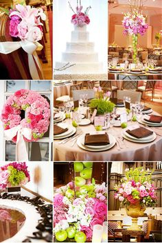 hot pink and brown spring wedding ideas