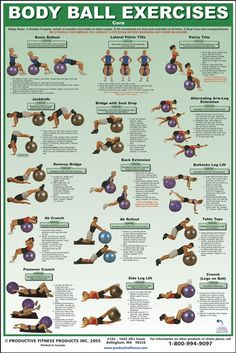 Stability Ball Core Exercises Chart | Power Systems Core Chart 79930 - $28.99