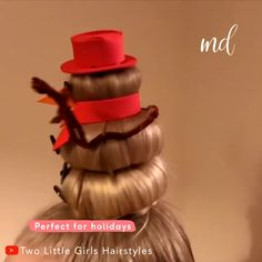 This hairstyle is so creative and perfect for holidays😍 By: Little Girls Hairstyles Latest Short Hairstyles, Cute Braided Hairstyles, Work Hairstyles, Christmas Hairstyles, Creative Hairstyles, Little Girl Hairstyles, Straight Hairstyles, Crazy Hair For Kids, Short Hair For Kids