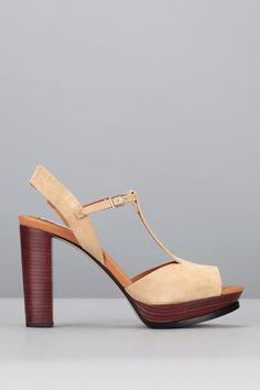 Sandales à talons suède beige See by Chloe