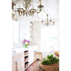 """""""#tbt to when our kitchen was newly renovated - and when I first became obsessed with my fluted farmhouse sink. The obsession continues... and I'm okay with it ;) #frenchcottagestyle #frenchcountrycottage #frenchcountrycottagestyle #frenchkitchen #kitchen #vintage #shabby #farmhousesink #chandelier #flowersofinstagram #flowersofinstagram #homegoodshappy #makehomeyours"""" Photo taken by @frenchcountrycottage on Instagram, pinned via the InstaPin iOS App! http://www.instapinapp.com (07/23/2015)"""
