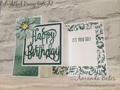 Delightful Daisy Delight Double Z Joy Fold Happy Birthday Card