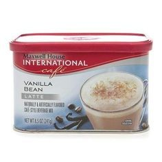 Maxwell House International Cafe Hot Latte Cafe-Style Beverage Mix Vanilla Bean Latte - 8.5 oz.
