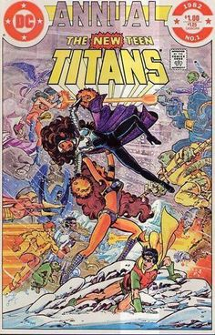 The New Teen Titans was an ongoing comic book series which began publication in 1980 and featured the super-hero team the Teen Titans. DC Comics revived the Teen Titans in the pages of DC Comics Presents Comic Book Pages, Dc Comic Books, Comic Book Artists, Comic Book Covers, Comic Artist, Dc Comics, Batman Comics, Teen Titans Characters, The New Teen Titans