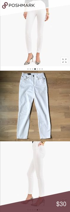 J Crew Lookout High Rise Crop White Jeans J Crew Hugh waisted pants. Size 26 9864ccea475c
