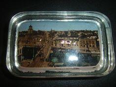 Andenkenglas Paperweight  MEMEL Ostpreussen Kleipeda  um 1920,Rarität ! Perlmutt