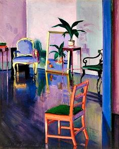 'The Red Chair' by Francis Campbell Boileau Cadell, 1925. Oil on canvas.