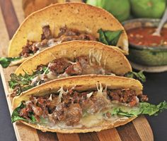 Beef and Kale Tacos Recipe | Epicurious.com *Use Beyond Beef!
