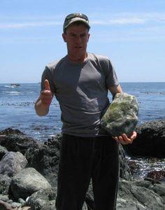 Aaron Appel and his big jade find  aaronappelwoodworks.com