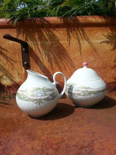 Mid Century Textured sugar and creamer from by fcollectables, €20.00
