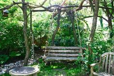The garden rocks, too! It's all native habitat plants and look how the swing is supported!