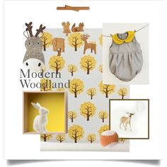 """""""Modern Woodland Nursery"""" by luciavils on Polyvore"""
