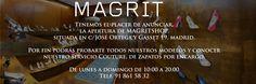 Tenemos el placer de anunciar,  la apertura de MAGRITSHOP,  situada en c/José Ortega y Gasset 19, madrid.  Por fin podrás probarte todos nuestros modelos y conocer nuestro servicio Couture, de zapatos por encargo.  De lunes a domingo de 10:00 a 20:00 Telf. 91 861 58 32