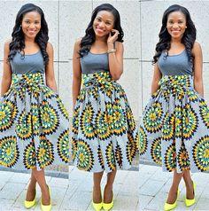 African Print Skirt by http://www.grass-fields.com/