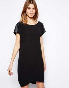 $79, Black Shift Dress: Y.a.s Black Shift Dress. Sold by Asos. Click for more info: https://lookastic.com/women/shop_items/94238/redirect