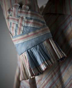 1880s Day Dress - sleeve cluff & ruffle
