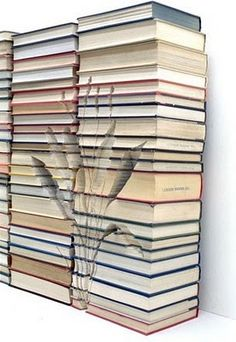 I love book and paper sculptures.