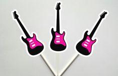 Guitar Goody Bags, Guitar Favor Bags, Guitar Gift Bags, Guitar Goodie Bags, Rock Star Goody Bags - P