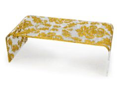 Gold Damask Printed Acrylic You-Table (6 Series)