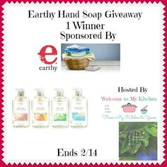 Ogitchida Kwe's Book Blog : Earthy Hand Soap Giveaway! @earthyorganic @skw3324...