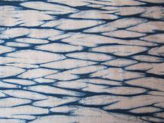 Hand-Dyed Indigo Shibori Quilting Fabric, Natural Indigo (7)
