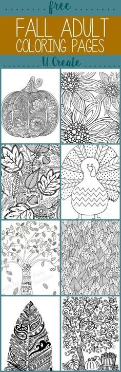 Free Fall Coloring Pages at U Create by Carol J. Gossman