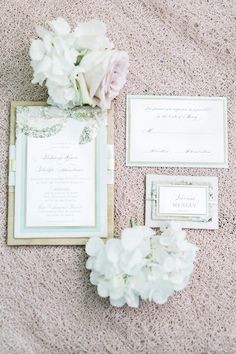 romantic wedding invitation - photo by Rising Lotus Photography http://ruffledblog.com/blush-woodland-fairy-inspiration-shoot #weddinginvitations