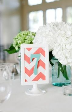 coral and mint wedding | Coral and Seafoam : wedding color scheme decor greenville Coral201 ...