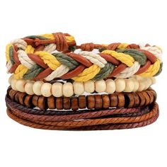 Bead Braided Rope Bracelets