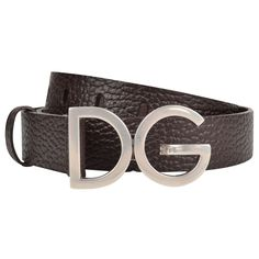 Do I want it because it is designer Dolce & Gabbana? I wanted a belt buckle with my initials. Just nice that it is high quality! Fashion Belts, Fashion Outfits, Fendi, Gucci, Reversible Belt, Designer Collection, Belt Buckles, Burberry, Initials