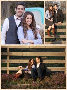 I love the fence photos, especially the bottom one sitting on the ground! Beautiful! Derick and Jill's engagement pictures!