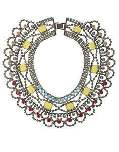 Stone statement necklace from #Bcbgmaxazria! #lordandtaylor #jewelry