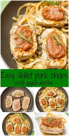 Pork chops with apple butter is an easy, flavorful weeknight dinner that requires just 5 ingredients and is ready in 30 minutes!