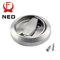NED 2 Pieces/Set 304 Stainless Steel Cup Handle Recessed Invisible Pull Door Handles Cabinet For Fire Proof Home Use