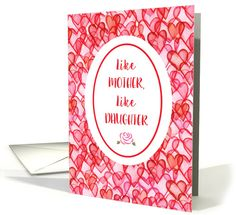 Happy Mother's Day from Daughter ~ Like Mother Like Daughter card by Sue Nollmeyer Mothers Day Cards, Happy Mothers Day, Mother's Day Greeting Cards, Holiday Cards, Daughter, Gifts, Christian Christmas Cards, Presents, Daughters