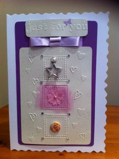 Embossing, tulle and charms added - any occasion 2015