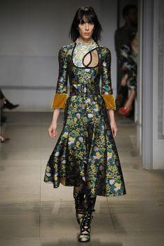 Erdem Fall 2017 Ready-to-Wear Fashion Show - Jamie Bochert