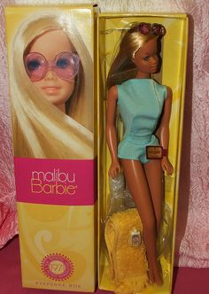Vintage Repro Malibu Barbie Sunglasses, Towel and Case