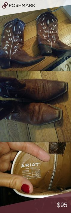 Ariat floral boots Good used condition but that's how they are supposed to be( : super comfy and cute! Shoes Heeled Boots