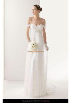 Robe de Mariée empire avec bretelles perlées