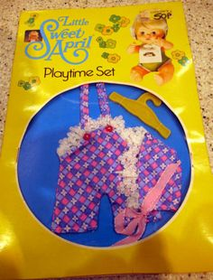 Vintage 1976 Little Sweet April Doll Playtime Set - Clothes Outfit 16.99+3