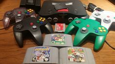 Nintendo 64 console 4 controllers,  n64 console, Nintendo 64 console bundle, Mario kart 64, Mario 64, Dr Mario, Nintendo 64 system,  n64 lot - pinned by pin4etsy.com