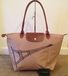 "Longchamp Eiffel Tower Bag Tote ""Beige""  Pliage Authentic S/S 2015 #Longchamp #TotesShoppers"
