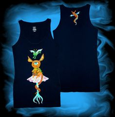 Hand painted tank-top. FREE SHIPPING worldwide. Psychedelic clothes. Painted clothes. Painted t-shirt. Psy tank-top. Trance. OOAK.