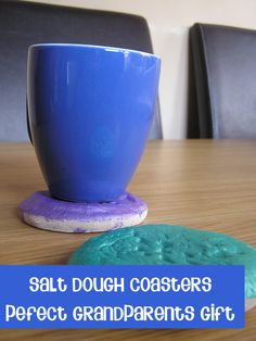 Do you make gifts with your young children to give as presents for relatives? We've made these salt dough coasters for grandparents this year which are so easy to make my 1 year old joined in as well