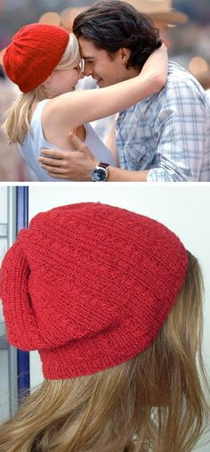 Free Knitting Pattern for Elizabethtown Hat - Theresa Belville's pattern Mary Jane's Pithy Hat includes two hat patterns inspired by Kirsten Dunst movies. This beret featuring tiny cables is inspired by the hat from the movie Elizabethtown. Pictured project by Milda.