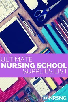 39 Things Every Nursing Student Needs before Starting School [the ultimate list of must-have nursing school supplies awesome list of supplies for nursing school Nursing Student Tips, College Nursing, Nursing School Notes, Nursing Career, Medical School, Nursing Tips, Student Nurse, Medical Students, Student Memes