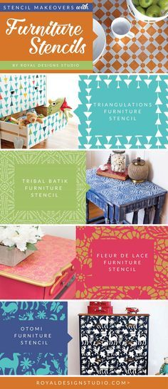 Open yourself up to pattern and stencil designs onto your dresser or cabinet doors using smaller scale furniture stencils!  (IKEA hack, furniture upcycle, painted furniture, diy decor, painted decor, furniture inspo, interior design, diy furniture, chalk paint, annie sloan, decorating ideas)