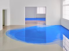 Peter Zimmermann installation -- Loving his use of value in the blues