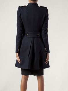 Prabal Gurung Military Peplum Coat - - Farfetch.com